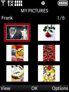 Pantalla de Mis fotos con opción a seleccionar una foto