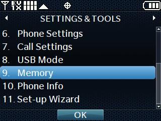 Settings and Tools - Memory