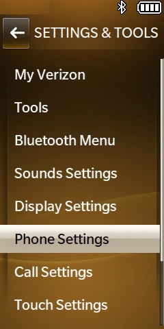 Phone Settings