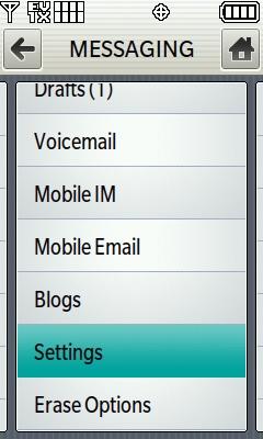 Configuración de mensajes
