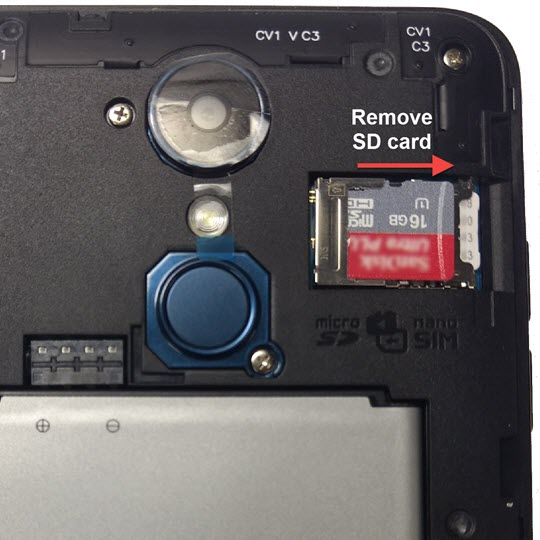 Remove SD card