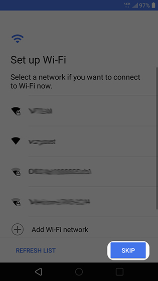 Activación básica de Wi-Fi
