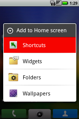 Add to Home screen with Shortcuts