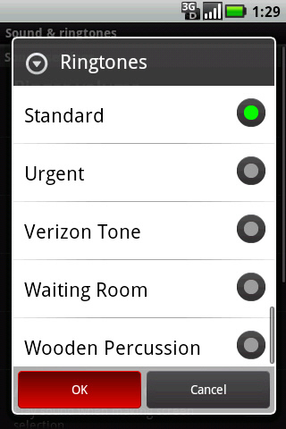 Ringtones with desired option