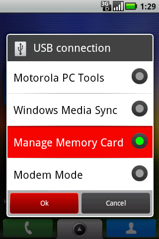 Manage memory card