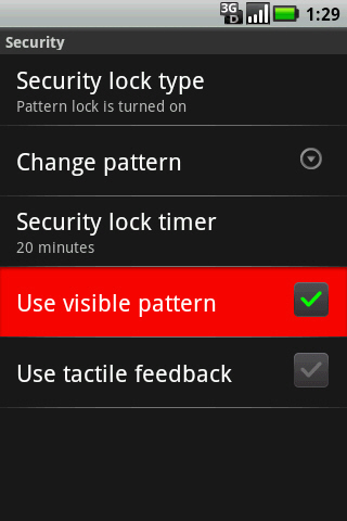 Security with Use Visible pattern