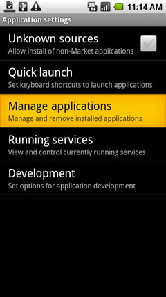 Oprime Manage Applications