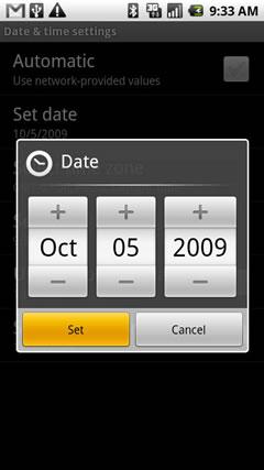 Ajustar fecha