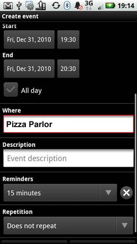 Ingresa la ubicación del evento