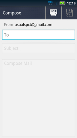 Compose message with To field