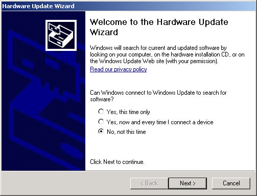 Hardware Update Wizard 1