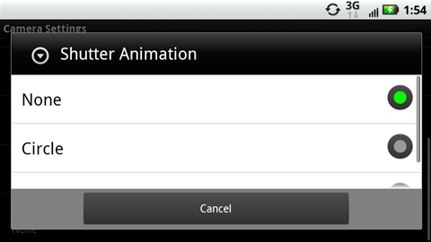 Shutter Animation with available options