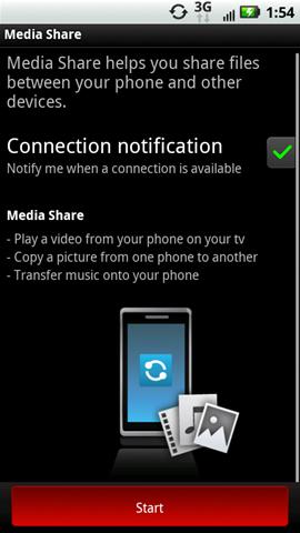 Media Share con Start