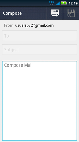 Compose message, Compose Mail field