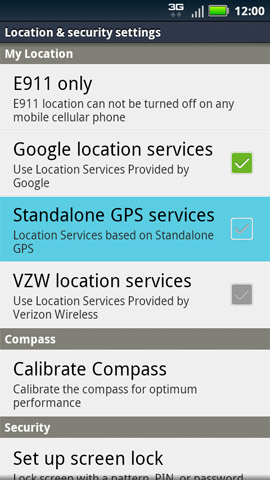 Standalone GPS services