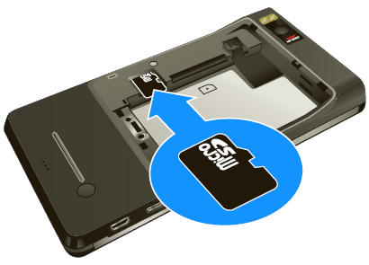 Inserting the SD Card