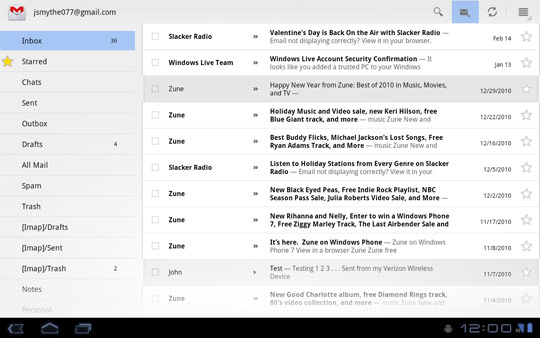 Gmail Inbox screen, Compose