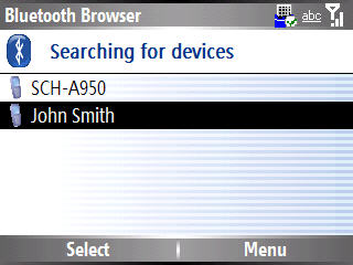 Image of Bluetooth browser