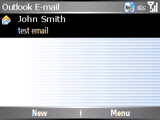 Email message with an attachment