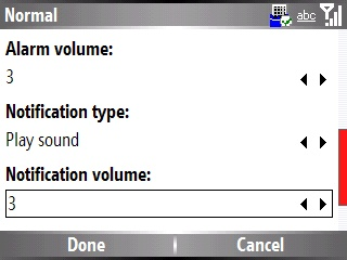 Enabling and disabling sound notification 5