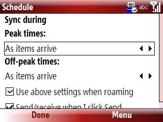 Cronograma de ActiveSync