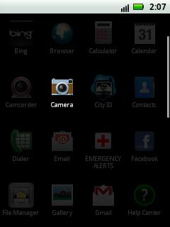 Aplicación de la cámara