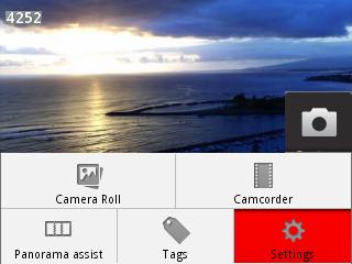 Configuración de la cámara