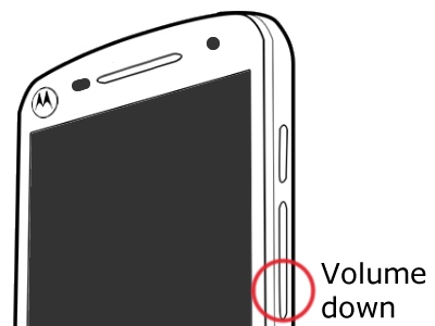 Volume down button