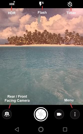 Opciones de cámara