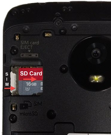 Installing the SD / Memory Card