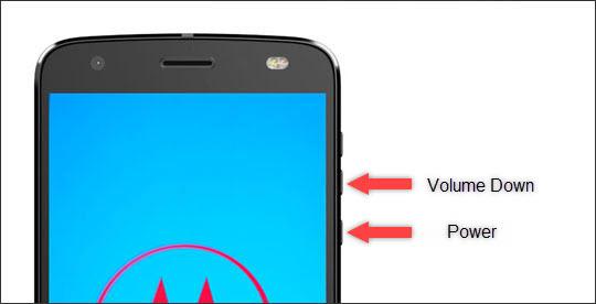 Power & volume down button