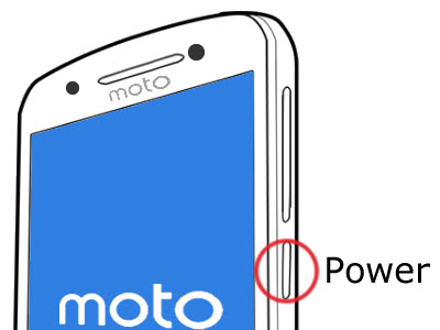 Power button with Moto logo