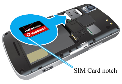 Inserta la tarjeta SIM