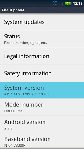 About phone with System version