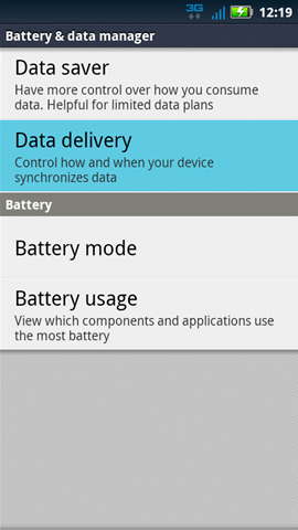 Battery & data manager with Data delivery