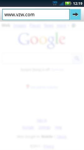 Dirección URL y botón Go