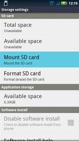 Insertar la tarjeta SD