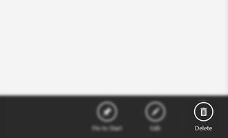 Comandos de aplicaciones con botón Delete