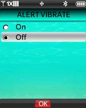 Pantalla Alert Vibrate
