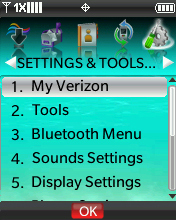 Settings & Tools menu