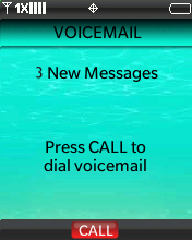 Voicemail screen