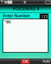 Voicemail # screen