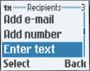 Ir hasta Enter Text, luego oprimir la tecla rápida izquierda