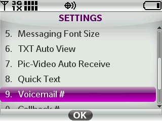 Select Voicemail #