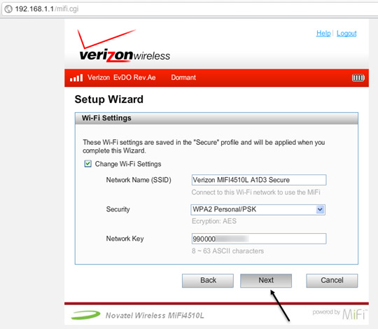 setup wizard settings