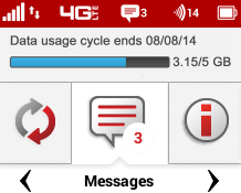 Display view Messages