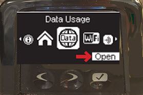 Open Data Usage screen