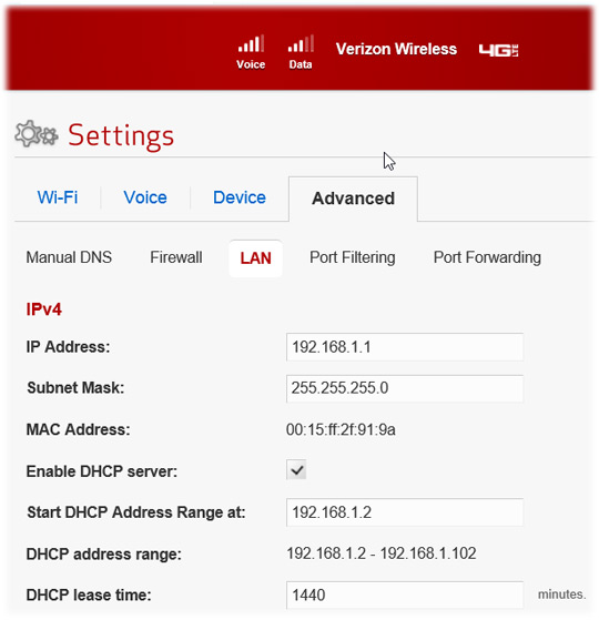 verizon home phone line installation