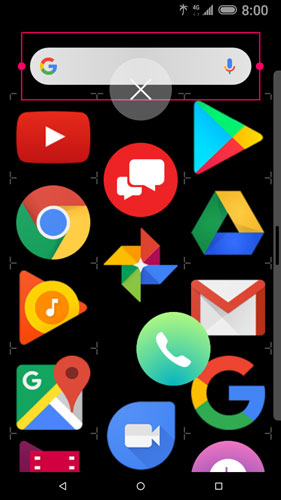 Home Screen manage with remove icon visible