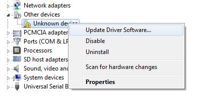 Software de actualización